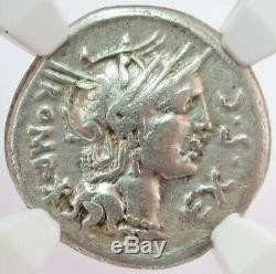 116 Bc Silver Roman Republic M. Sergius Silus Denarius Coin Ngc Very Fine