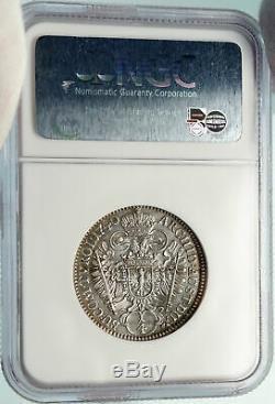 1740 AUSTRIA Holy Roman Empire CHARLES Karl VI Silver 1/4 TALER Coin NGC i84782