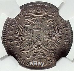 1747 AUSTRIA Holy Roman Empire MARIA THERESA Silver Austrian Coin NGC MS i82376