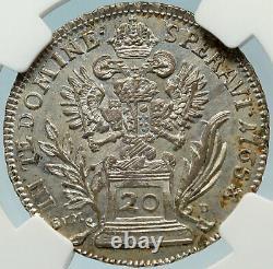 1765 AUSTRIA Roman Emperor Franz I Silver 20 Kreuzer Austrian NGC Coin i83712
