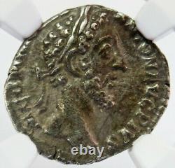 177-192 Ad Roman Empire Silver Denarius Emperor Commodus Coin Ngc Xf