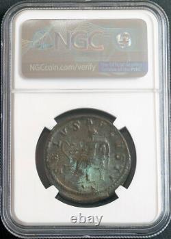 238, Roman Empire, Maximinus I. Large Bronze Sestertius Coin. NGC AU 4/5 3/5