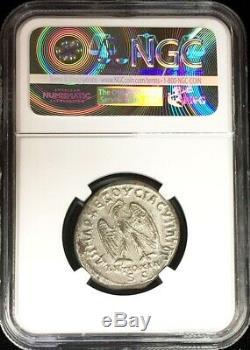 244- 249 Ad Roman Antioch Bi Tetradrachm Philip I Eagle Coin Ngc Extremely Fine