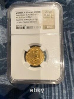 3 Roman and Byzantine NGC Gold Coins/ Aureus and Solidus NGC