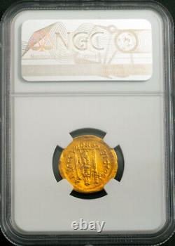 474, Eastern Roman Empire, Leo I. Beautiful Gold Solidus Coin. NGC Choice XF