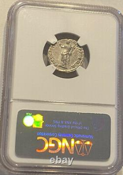 98-117 Ad Emperor Tarjan Roman Empire Silver Denarius Ngc AU Ancient Coin