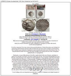 AMPHIPOLIS Roman Macedonia Greek 167BC Silver Tetradrachm Coin NGC i66858