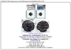 ANTONINUS PIUS Authentic Ancient 138AD RARE Roman Coin of HIEROPOLIS NGC i81545