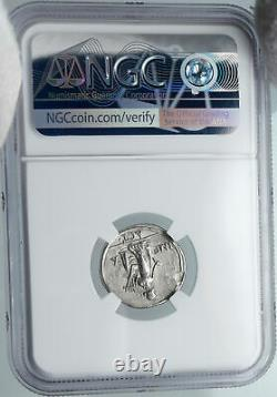 AUGUSTUS Authentic Ancient 15BC Silver Roman Coin ACTIUM VICTORY NGC i88630