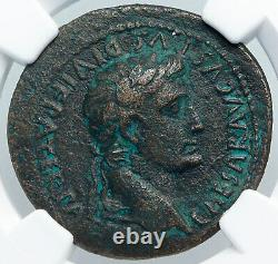 AUGUSTUS Authentic Ancient 27BC Rome OLD Roman Coin LUGDUNUM ALTAR NGC i88946