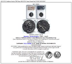 AUGUSTUS Authentic Ancient 27BC Rome ORONTES Vintage Roman Coin TYCHE NGC i90665