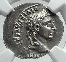 AUGUSTUS Biblical Jesus Christ Time RENDER CAESAR Silver Roman Coin NGC i80680
