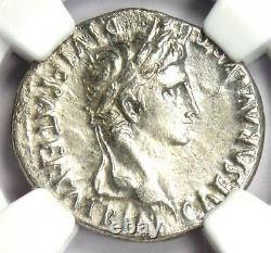 Ancient Roman Augustus AR Denarius Coin 27 BC 14 AD Certified NGC AU