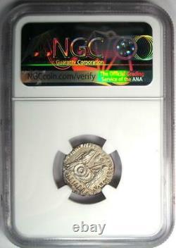 Ancient Roman Augustus AR Denarius Coin 27 BC 14 AD Certified NGC Choice AU