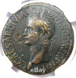 Ancient Roman Caligula AE Sestertius Soldiers Coin 37-41 AD NGC Choice VF