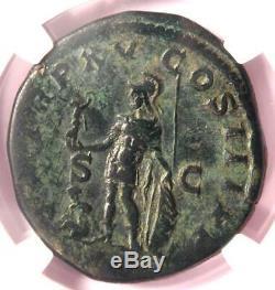 Ancient Roman Caracalla AE Sestertius Mars Victory Coin 212 AD NGC Choice Fine