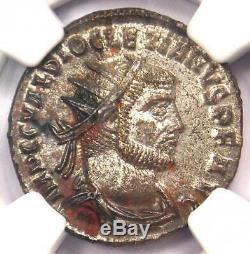 Ancient Roman Diocletian BI Aurelianianus Jupiter Coin 284-305 AD NGC MS (UNC)