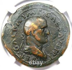 Ancient Roman Galba AE Sestertius Libertas Coin 68-69 AD Certified NGC Fine