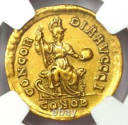Ancient Roman Gratian AV Solidus Gold Coin 367-383 AD Certified NGC AU