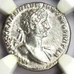 Ancient Roman Hadrian AR Denarius Coin 117-138 AD Certified NGC Choice XF (EF)