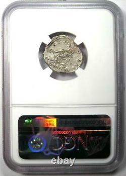 Ancient Roman Hadrian AR Denarius Coin 117-138 AD Certified NGC XF (EF)