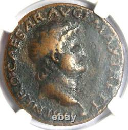Ancient Roman Nero AE As Coin 54-68 AD Certified NGC VF Rare
