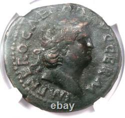 Ancient Roman Nero AE As Copper Coin 54-68 AD NGC Choice Fine Rare Coin