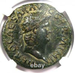 Ancient Roman Nero AE As Copper Coin 54-68 AD NGC VF (Very Fine) Rare Coin