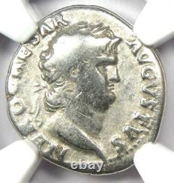 Ancient Roman Nero AR Denarius Coin 54-68 AD Certified NGC Fine Rare Coin