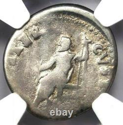 Ancient Roman Nero AR Denarius Coin 54-68 AD Certified NGC Good Rare Coin
