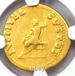 Ancient Roman Nero AV Aureus Gold Coin 54-68 AD Certified NGC Fine Rare