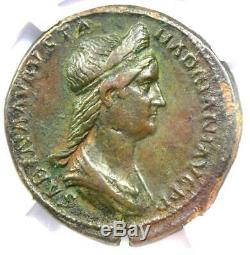 Ancient Roman Sabina AE Sestertius Coin 128-136 AD. Certified NGC XF, Fine Style