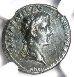 Ancient Roman Tiberius AR Denarius Silver Coin 14-37 AD. Certified NGC Choice XF