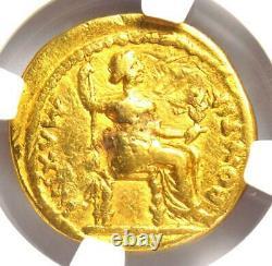 Ancient Roman Tiberius Gold AV Aureus Livia Coin 14-37 AD Certified NGC Fine