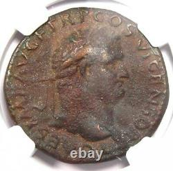 Ancient Roman Titus AE As Copper Coin 79-81 AD NGC Choice VF (Very Fine)