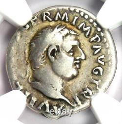 Ancient Roman Vitellius AR Denarius Coin 69 AD NGC Choice Fine Rare