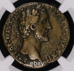 Antoninus Pius 138 161 Ad Sestertius Roman Ancient Coin Temple Ngc Vf #4991