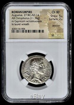 Augustus 27 Bc 14 Ad Cistophorus Ancient Roman Empire Capricorn Coin Ch Xf