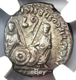 Augustus AR Denarius Coin 27 BC 14 AD, Lugdunum Certified NGC Choice VF