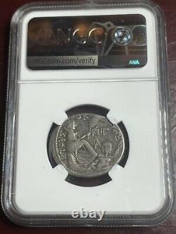 Augustus AR Tetradrachm NGC CH F, Syria Antioch, Roman Empire Silver Coin