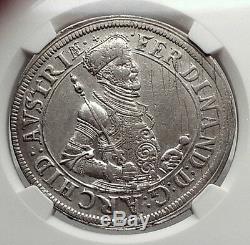 Austria Holy Roman Empire Archduke Ferdinand II Silver Taler Coin NGC i62165