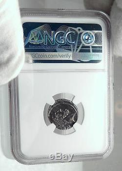 Brutus Julius Caesar Assassin Ancestors Roman Republic Silver Coin NGC i81701