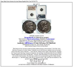 Brutus Julius Caesar Assassin Ancestors Roman Republic Silver Coin NGC i84772