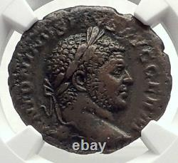 CARACALLA Authentic Ancient 217AD Rome As Genuine Roman Coin LION NGC i71724