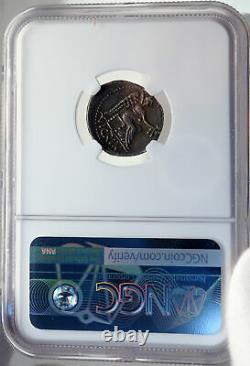 CATO UTICENSIS ENEMY of JULIUS CAESAR 47BC Silver Roman HERO Coin NGC i82712