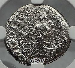 CIVIL WAR after NERO 68AD Gaul Authentic Ancient Silver Roman Coin NGC i60108