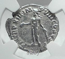 COMMODUS the Gladiator Emperor Ancient Silver Roman Coin HERCULES NGC i81434