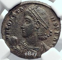 CONSTANS Authentic Ancient Roman Coin of Antioch 348AD SOLDIER BARBARIAN i82222