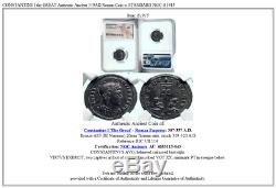 CONSTANTINE I the GREAT Authentic Ancient 319AD Roman Coin w STANDARD NGC i81915