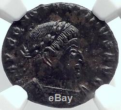 CONSTANTINE I the Great Authentic Ancient 317AD Roman Coin SOL SUN NGC i81784